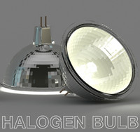 3ds max halogen lamp light bulb