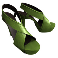 heels green 3d model