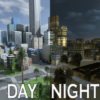 city day night street 3ds