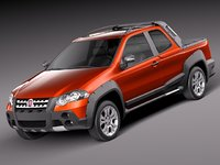 fiat strada adventure pickup 3d 3ds
