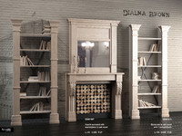 hearth fireplace 3d max