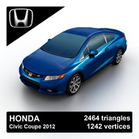 3ds max 2012 honda civic coupe