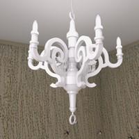 paper chandelier moooi 3d max