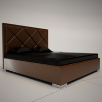 3d cattelan italia patrick bed model