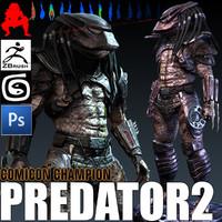 predator 2 3d model