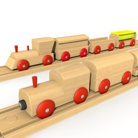 wooden trains set lwo