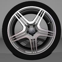 3d mercedes amg wheel model