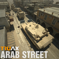 Arab Street with Vehicles