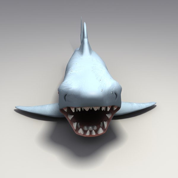 Shark Toy Box : D model toy rubber shark
