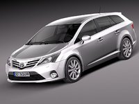 3d toyota avensis estate 2013