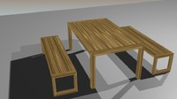 maya wooden bench table