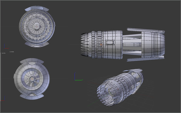 3d stardrive scifi spaceships model - Stardrive THR 008C... by sender pinarci