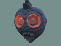 scary alien face 3d model