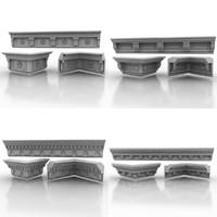cornice molding 3d model