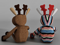 Knitted toy Deer