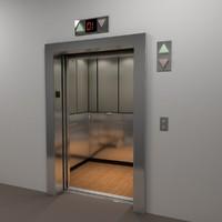 passenger elevator 3d model