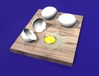 3d cracked eggs