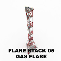 3ds flare stack gas 05