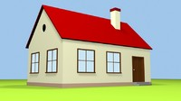 simple cartoon house max