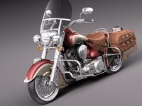 3d indian chief vintage antique model