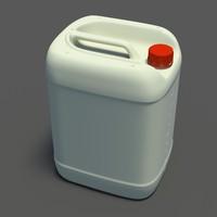 plastic jerrycan 3d obj