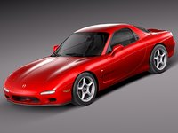 3d mazda rx7 rx-7 sport coupe model