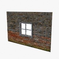 Wood Window and Brick Wall