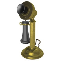 phone candlestick stick 3d model