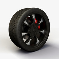 Wheel Baccarat - Mirage rims and tire
