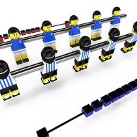 Lego football table bars