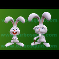 3d model cartoon old rabit boy