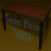 free c4d mode wooden table wood