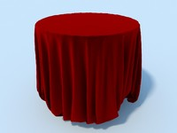 table cloth tablecloth 3d max