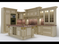 classical kitchen furniture 3d max