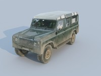 Land Rover car  low-poly