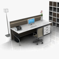 3d office set 02