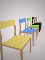 3d mint chair air model