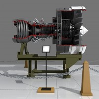 3d aircraft engine model
