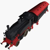 3d model locomotive toy