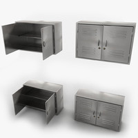 Metal Medical Like Cabinets