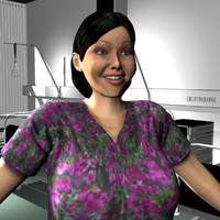 female medical staff 3d ma