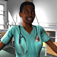 3d model female medical staff
