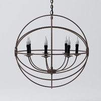 Restoration Hardware - Foucaults Iron Orb Chandelier Medium