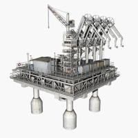 gas platform 3d model