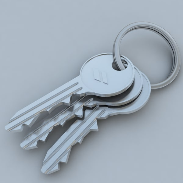 3d model key keychain chain - KeyChain... by RobertoMarques