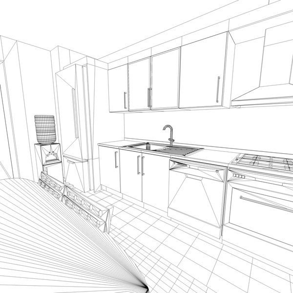 3dsmax dishwasher cooker - Kitchen... by atolyee84