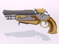 renaissance pistol 3d model