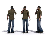 3d people 1 male model
