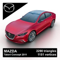2011 mazda takeri concept 3d model