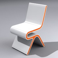 modern lounge chair 3d max